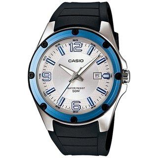 Casio Men's Core MTP1346-7AV Black Resin Quartz Watch with Silvertone Dial