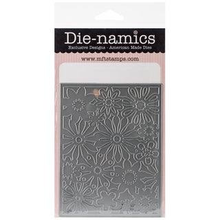 Die-Namics Cover-Up Die-Floral Fusion 4inX5.25in