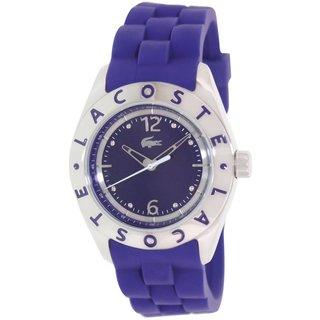 Lacoste Women's Biarritz 2000750 Purple Silicone Analog Quartz Watch with Purple Dial