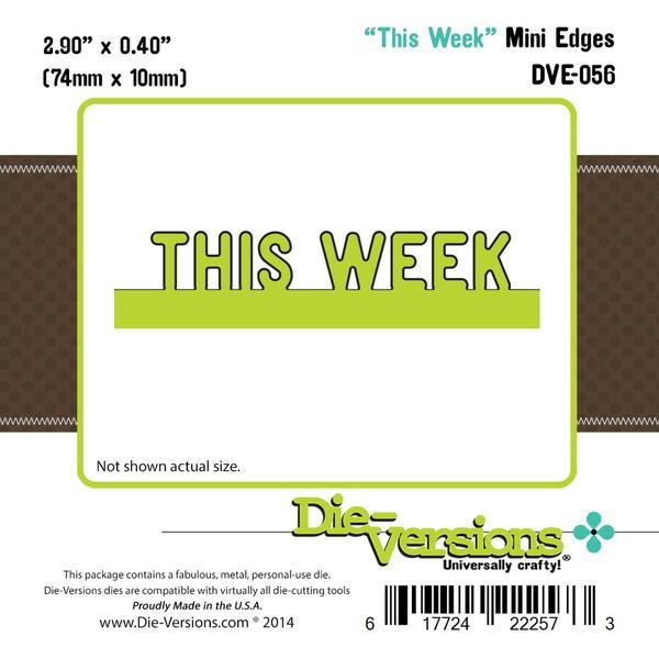 Die-Versions Express Edges Die-Mini This Week, 2.9inX.4in
