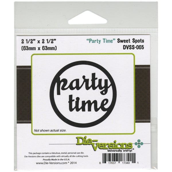 Die-Versions Sweet Spots Die-Party Time, 2.5inX2.5in