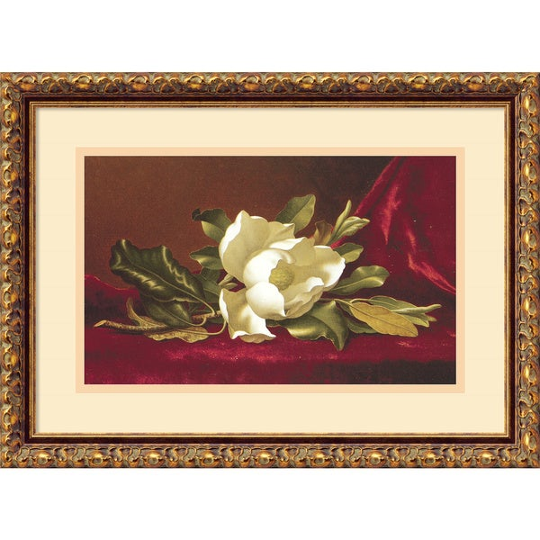 Martin Johnson Heade 'The Magnolia Flower' Framed Art Print 19 x 14-inch