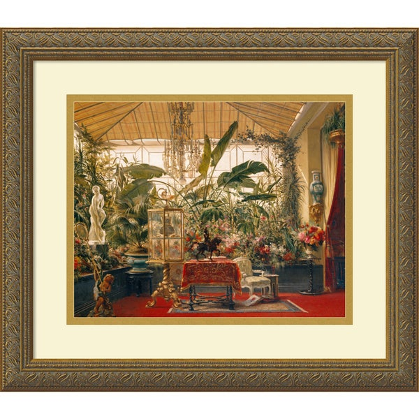 Charles Giraud 'Veranda de la Princesse Mathilde (Veranda of the Mathilde Princess)' Framed Art Print 17 x 15-inch
