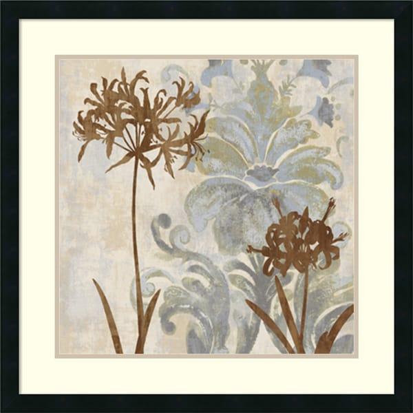 Erin Lange 'Floral Oasis II' Framed Art Print 27 x 27-inch