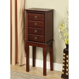 Diamond Espresso Spacious Jewelry Armoire