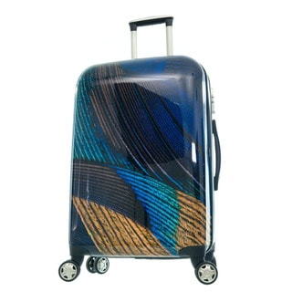 GABBIANO Peacock Navy Polycarbonate 3-piece Expandable Hardside Luggage Set