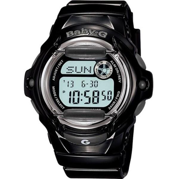 Casio Women's Baby-G BG169R-1 Black Resin Quartz Watch with Digital Dial