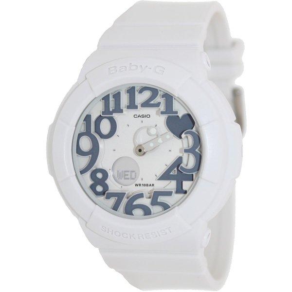Casio Women's Baby-G BGA134-7B White Resin Quartz Watch with White Dial