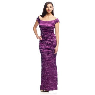 Alex Evenings Women's Off the Shoulder Long Evening Gown