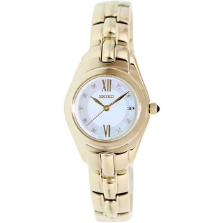 Seiko Women's SXDB58 Goldtone Stainless Steel Quartz Watch with Mother-Of-Pearl Dial