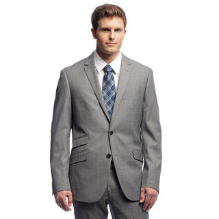 Kenneth Cole New York Men's Trim Fit Grey Suit Separates Coat