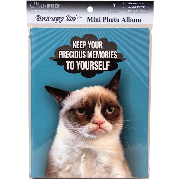 Grumpy Cat Mini Photo Album 4inX6in Holds 24 Photos-Memories