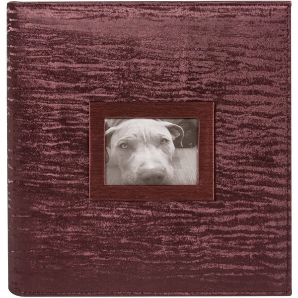 8.5inX11in 3 Ring Photo & Scrapbook Album-Bordeaux