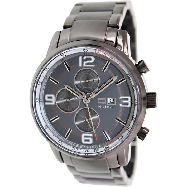 Tommy Hilfiger Men's 1710339 Grey Stainless Steel Analog Quartz Watch with Grey Dial