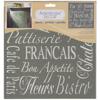 Americana Decor Stencil-French Living