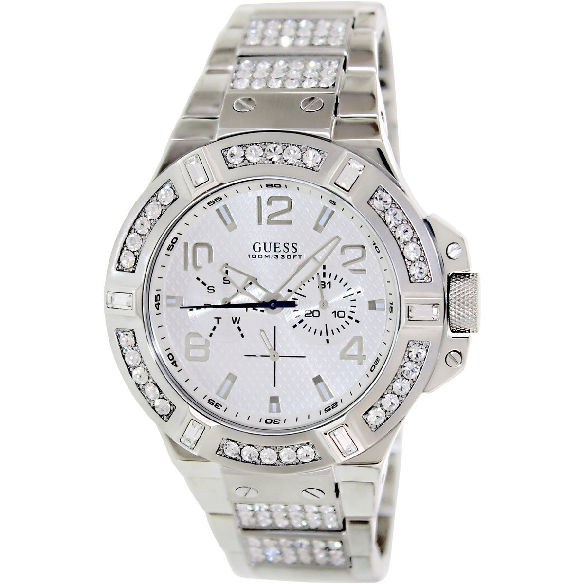 Guess Men's Rigor U0292G1 Silvertone Stainless Steel Quartz Watch with Silvertone Dial at Sears.com