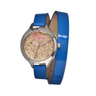 Boum Women's Confetti Gold Leather Blue Analog Watch