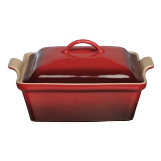 Le Creuset Cherry 2.5-quart Heritage Covered Square Casserole Dish