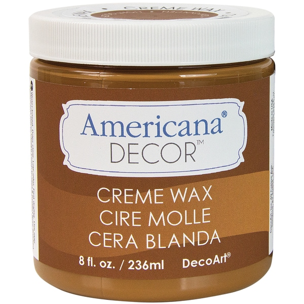Americana Decor Creme Wax 8oz-Golden Brown