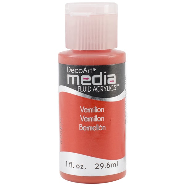 Media Fluid Acrylic 1oz-Vermillion (Series 3)