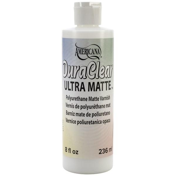 Americana Brush On Sealer/Finish 8oz Squeeze Bottle-DuraClear Ultra Matte Varnish