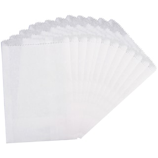 Large Paper Bags 5inX7.5in 12/Pkg-White