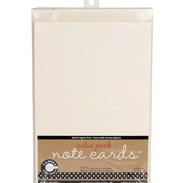 Value Pack Cards & Envelopes 4inX5.5in 25/Pkg-Ivory