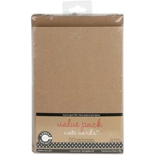 Value Pack Cards & Envelopes 4inX5.5in 50/Pkg-Kraft