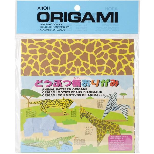Origami Paper 40/Pkg-Animal Print 5.875inX5.875in