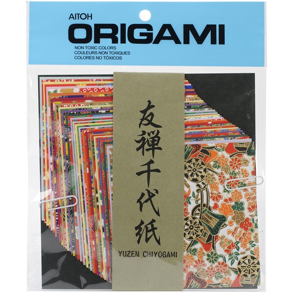 Origami Paper 40/Pkg-Yuzen Washi Chiyogami 4inx4in