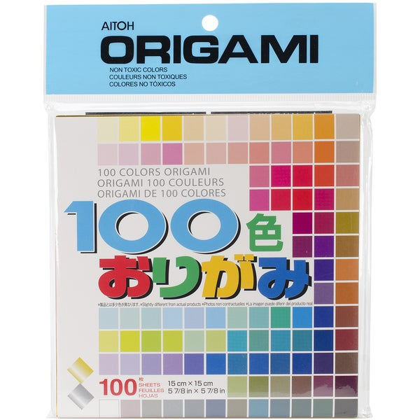 Origami Paper 100/Pkg-100 Colors 5.875inX5.875in