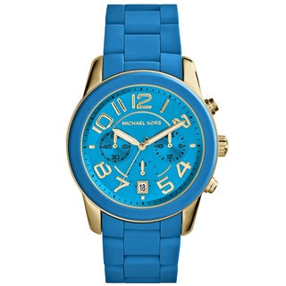 Michael Kors MK5891 Mercer Chronograph Turquoise Silicone Watch