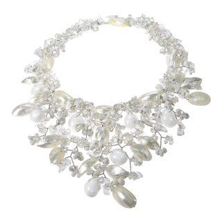 Mesmerizing Statement Candy White Shell Handmade Necklace (Philippines)
