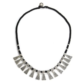 Exotic Triangle Collared Karen Hill Tribe Silver Necklace (Thailand)