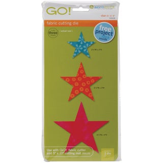 GO! Fabric Cutting Dies-Star 2in, 3in & 4in