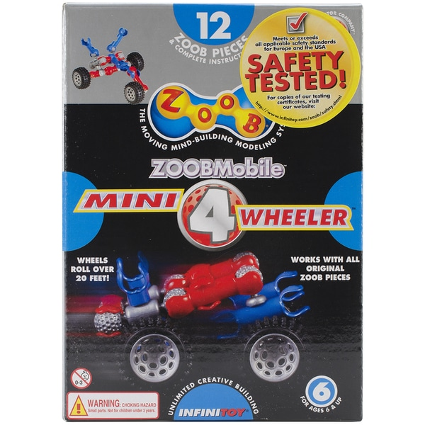 ZOOB Set 12pc-Mobile Mini 4 Wheeler