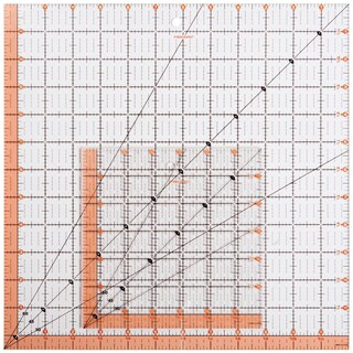 Fiskars Quilting Ruler-2/Pkg 12.5inX12.5in & 6.5inX6.5in