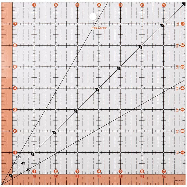 Fiskars Quilting Ruler-8.5inX8.5in
