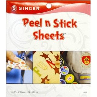 Peel N Stick Sheets 5X5in Plus Stencil 6/Pkg