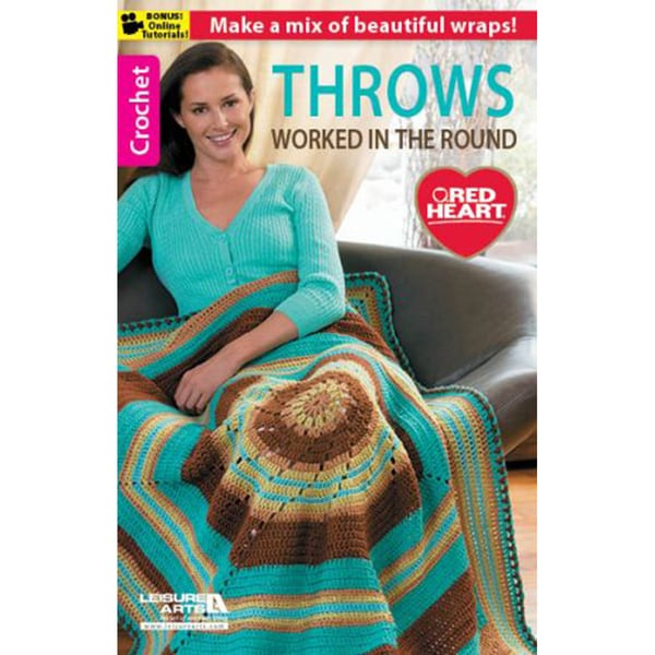Leisure Arts-Throws Worked In The Round
