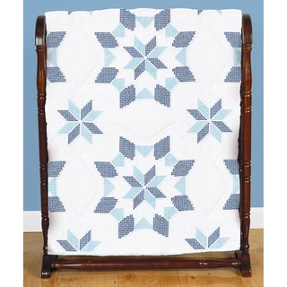 Stamped White Quilt Blocks 18inX18in 6/Pkg-Interlocking XX Western Star