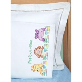Children's Stamped Pillowcase With White Perle Edge 1/Pkg-Peek A Boo