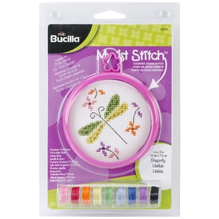 My 1st Stitch Dragonfly Mini Counted Cross Stitch Kit-3in Round 14 Count