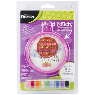 My 1st Stitch Fly Free Mini Counted Cross Stitch Kit-3in Round 14 Count