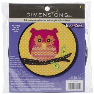 Learn-A-Craft Little Owl Felt Applique Kit-6in Round