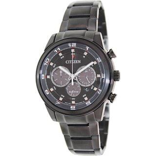 Citizen Men's Eco-Drive CA4035-57E Black Stainless Steel Quartz Watch with Black Dial