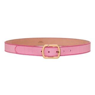 Fendi Pink Calfskin Micro-logo Belt
