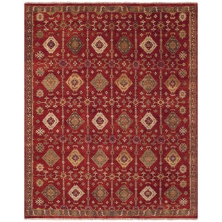 Isabella Red Area Rug (7'9 x 9'9)