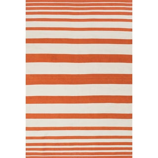 Salta Orange White Area Rug (5' x 8')