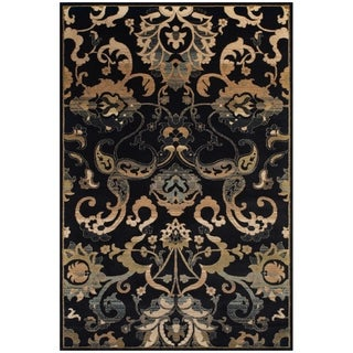 Carlisle Black Area Rug (5' x 8')